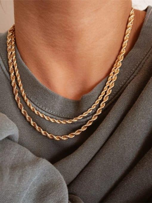 Desoto Stainless steel Irregular Hip Hop Necklace 0