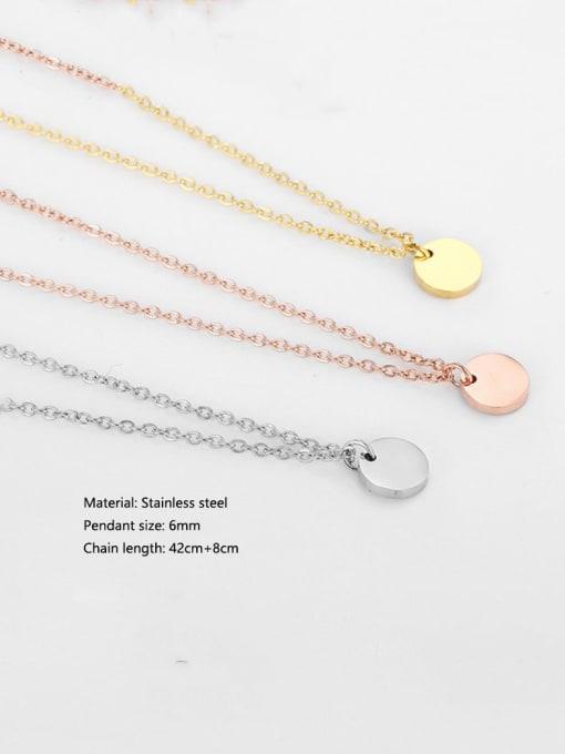 Desoto Stainless steel Geometric Minimalist Multi Strand Necklace 3