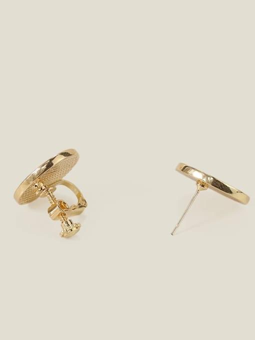 Five Color Alloy Enamel Clover Cute Stud Earring 2