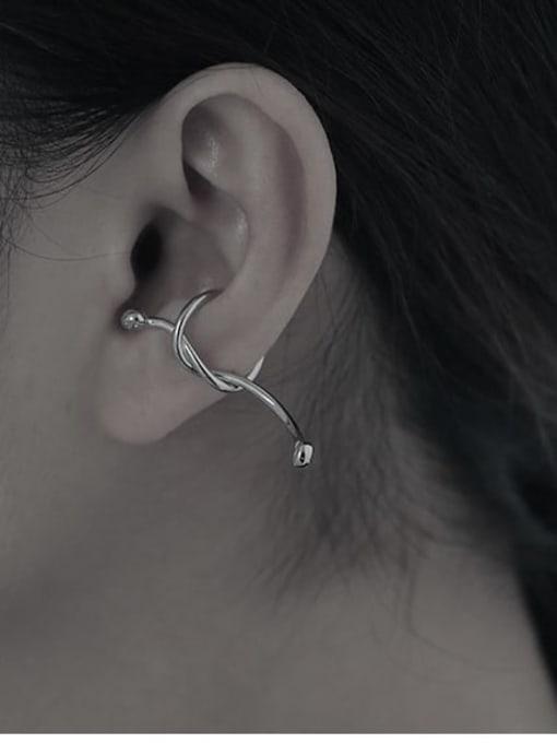 TINGS Brass Bowknot Hip Hop Single Earring 2