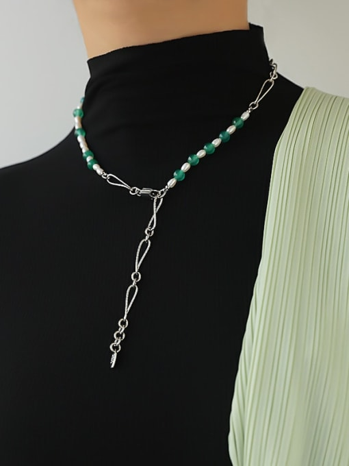 TINGS Brass Geometric Vintage Hollow Chain Necklace 1