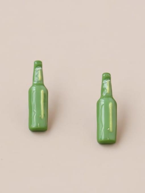 Five Color Alloy Enamel Geometric Minimalist  Wine bottle Stud Earring