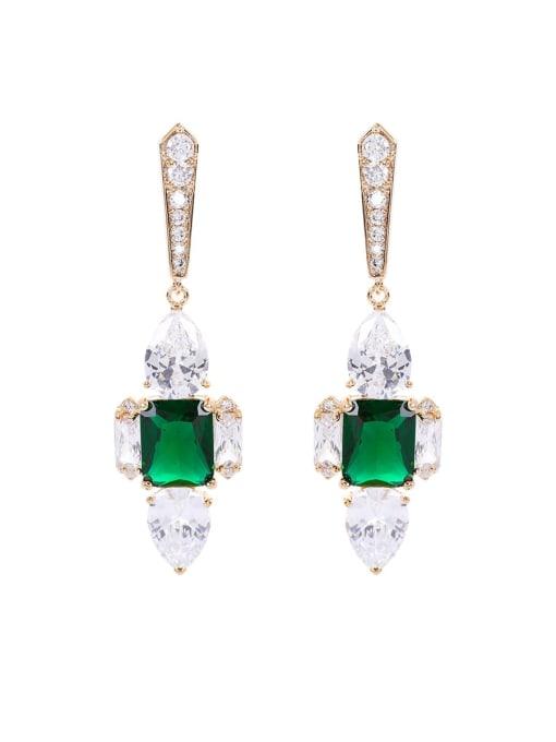 OUOU Brass Cubic Zirconia Cross Luxury Stud Earring 3