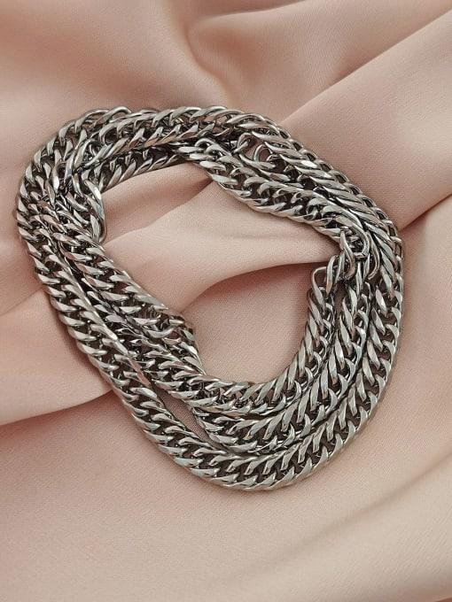 Titanium steel necklace Titanium Steel  Hollow Geometric  Chain  Vintage Necklace