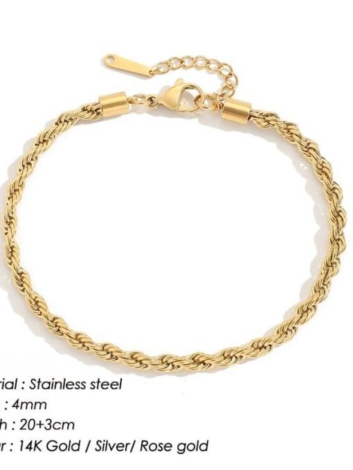 golden Stainless steel  Irregular Minimalist Anklet