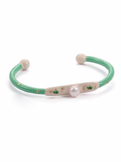 Oil dripping Bracelet Zinc Alloy Enamel Geometric Minimalist Cuff Bangle