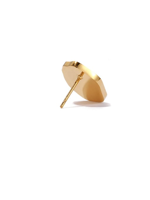 ACCA Brass Resin Oval Vintage Stud Earring 3