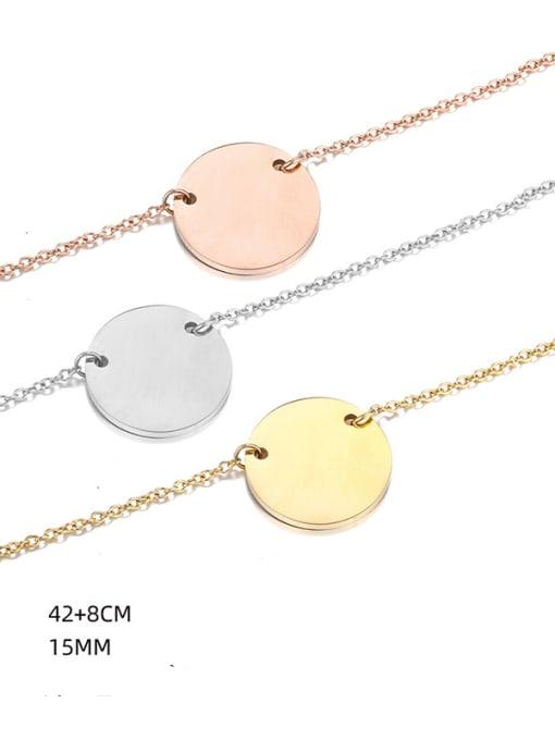 Desoto Titanium Steel Geometric Minimalist Multi Strand Necklace 2