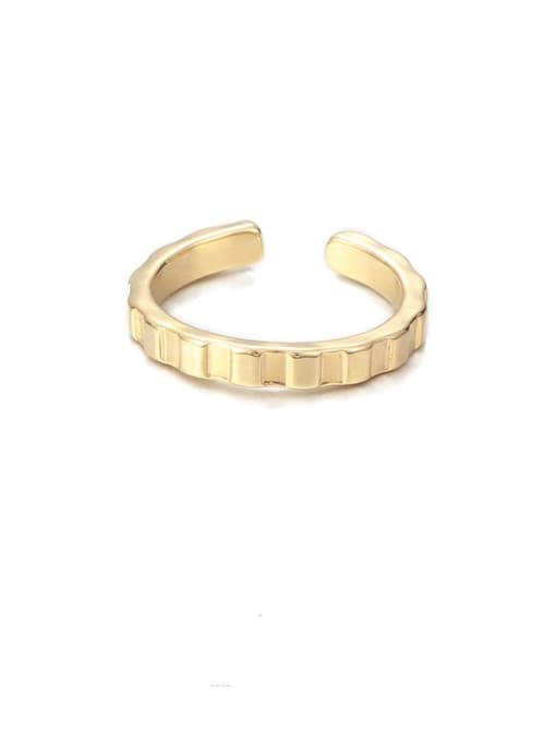 Gear ring Brass Irregular Minimalist Band Ring