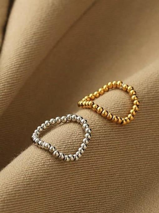 ACCA Brass Bead Round Minimalist Band Ring 1
