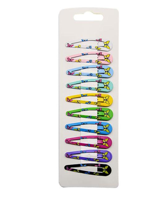 3 Alloy Multi Color Enamel Cute Water Drop  Hair Barrette