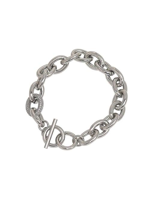 HYACINTH Brass Geometric Chain Minimalist Link Bracelet
