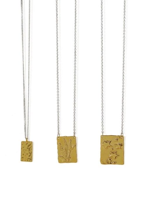 ACCA Brass Geometric Vintage Necklace 2
