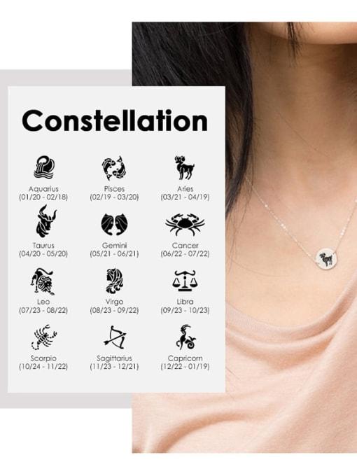 Desoto Stainless steel Constellation Minimalist  Round Pendant Necklace 0