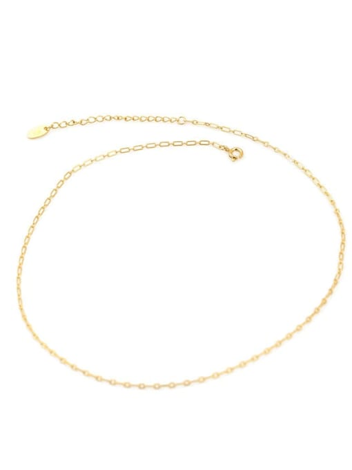 Cross chain Brass Geometric Minimalist Choker Necklace