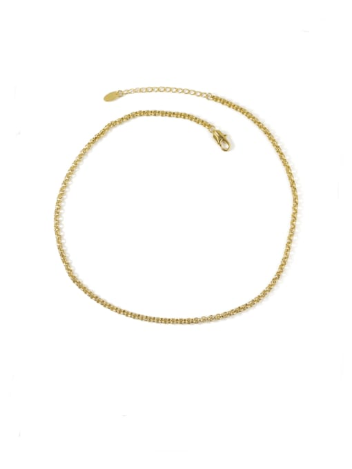 ACCA Brass Hollow  Geometric China Vintage Choker Necklace