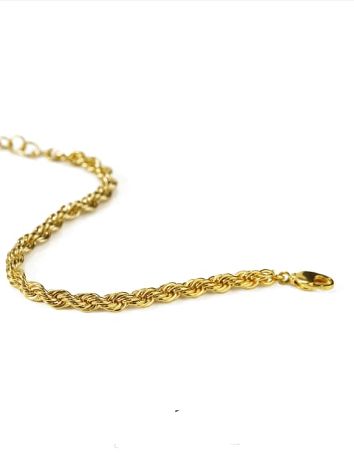 ACCA Brass Vintage  Hollow chain Bracelet 2