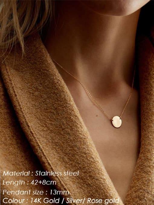 Desoto Stainless steel Constellation Minimalist  Round Pendant Necklace 1