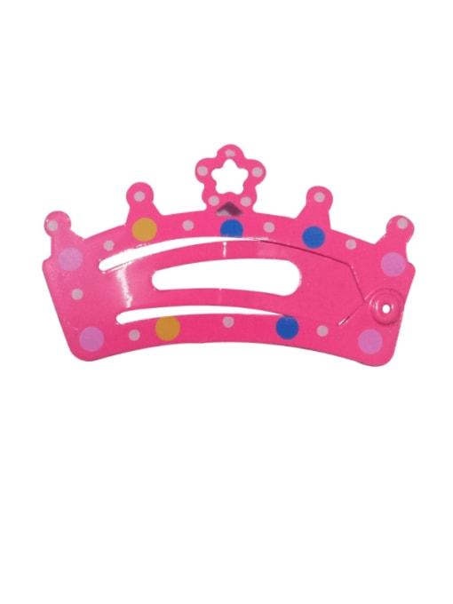5905 Alloy Multi Color  Enamel Cute Crown Hair Barrette