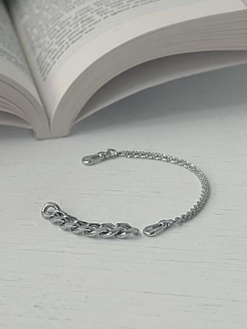 TINGS Brass Geometric  Hollow Chain Hip Hop Link Bracelet 2