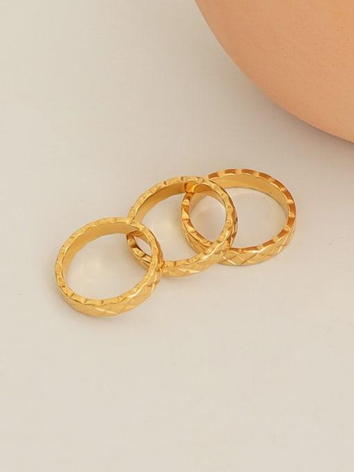 Five Color Titanium Steel Geometric Minimalist Band Ring 3