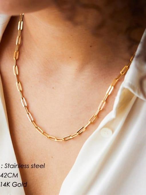 Desoto Stainless steel Irregular Hip Hop Multi Strand Necklace 3