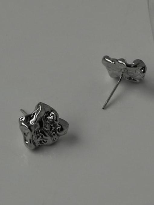 TINGS Brass Irregular Minimalist Stud Earring 0
