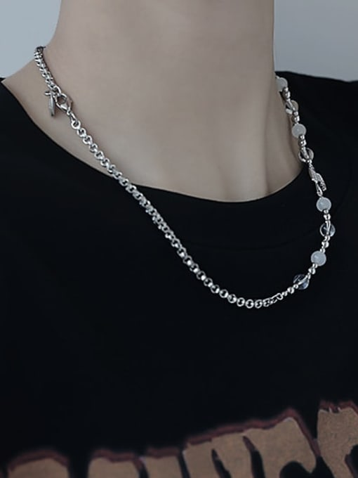 TINGS Brass Imitation Pearl Irregular Vintage Necklace 2