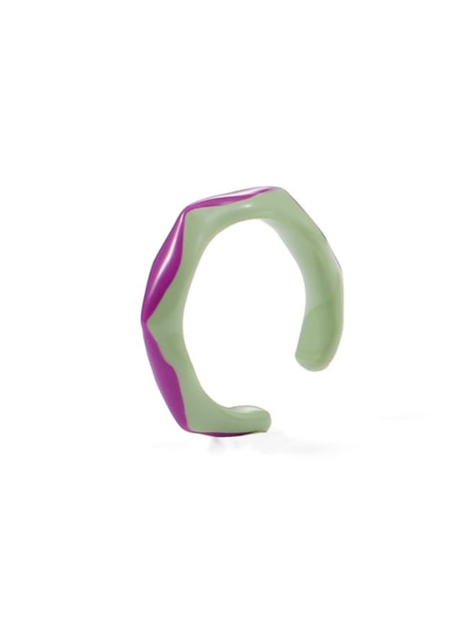 Qingzi (6, 7) Zinc Alloy Enamel Irregular Minimalist Band Ring