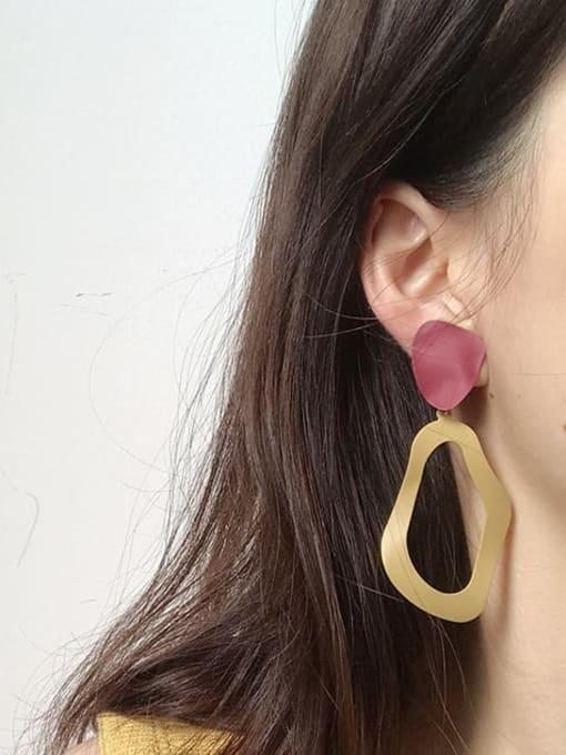 Five Color Alloy Enamel Geometric Vintage Drop Earring 1