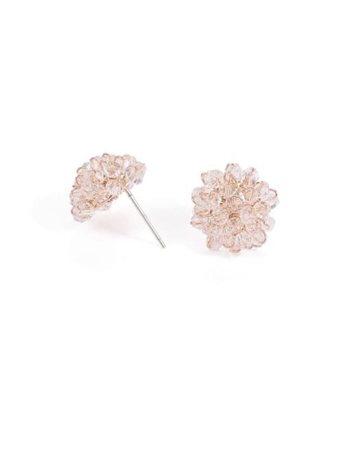 White Earrings Brass Cubic Zirconia Star Minimalist Stud Earring
