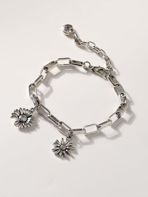 HYACINTH Brass Hollow  Geometric Chain Vintage Link Bracelet 2