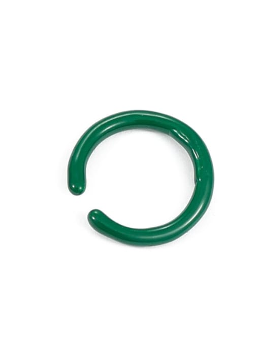 Green oil dripping (slightly adjustable) Zinc Alloy Enamel Geometric Minimalist Band Ring