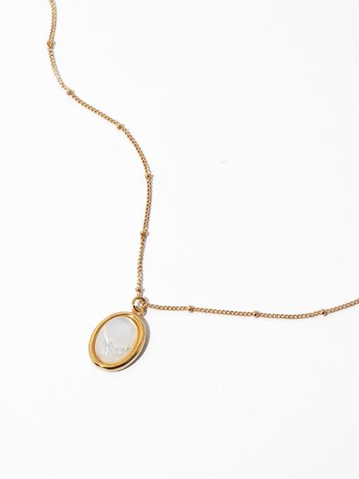 golden Brass Shell Geometric Vintage Necklace