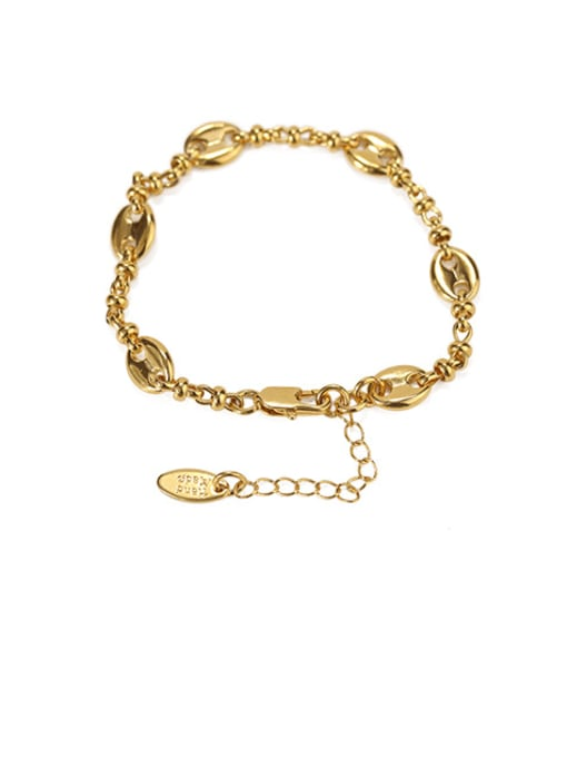 ACCA Brass Geometric chain Vintage Link Bracelet 0