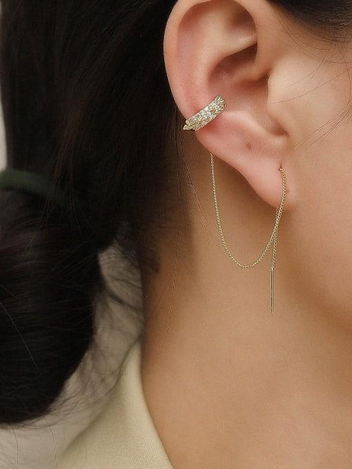 HYACINTH Brass Tassel Vintage Threader Earring 1