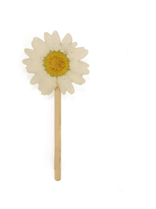 Five Color Alloy Imitation Pearl Minimalist Flower  Hair Pin 3