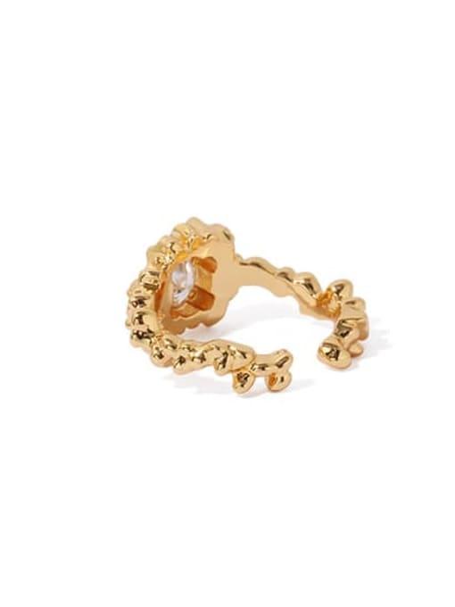ACCA Brass Cubic Zirconia Irregular Vintage Band Ring 3
