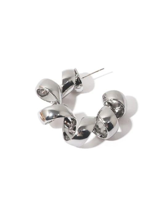 Silver (Single) Brass Geometric Vintage Single Earring