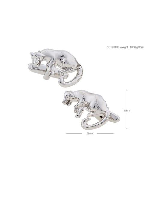 ThreeLink Brass Animal Lion Vintage Cuff Link 2