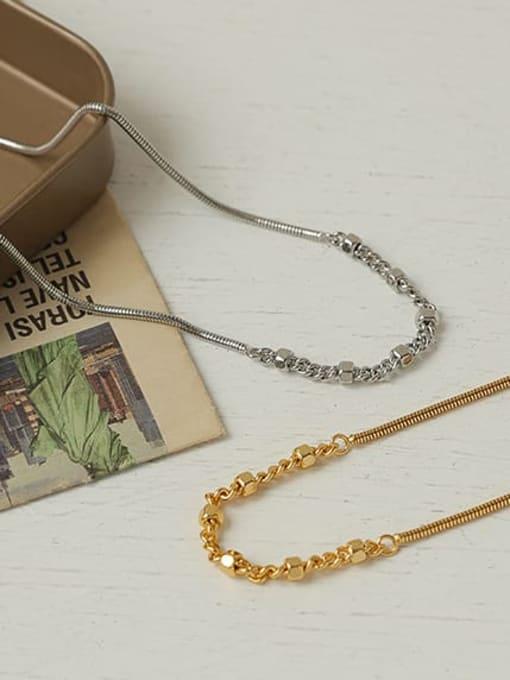 ACCA Brass  Hollow Geometric Hip Hop Necklace 3