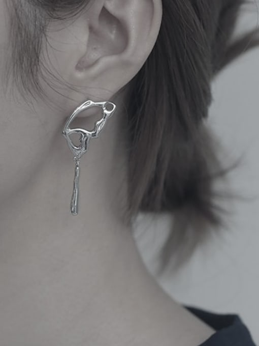 TINGS Brass Asymmetric  Wing Vintage Stud Earring 1