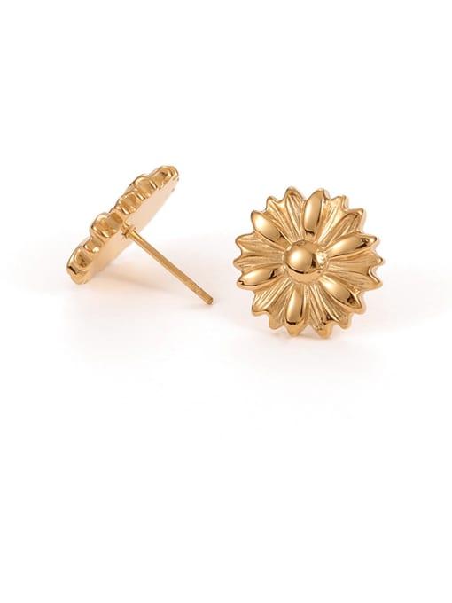 Daisy Earrings Titanium Steel Flower Hip Hop Stud Earring