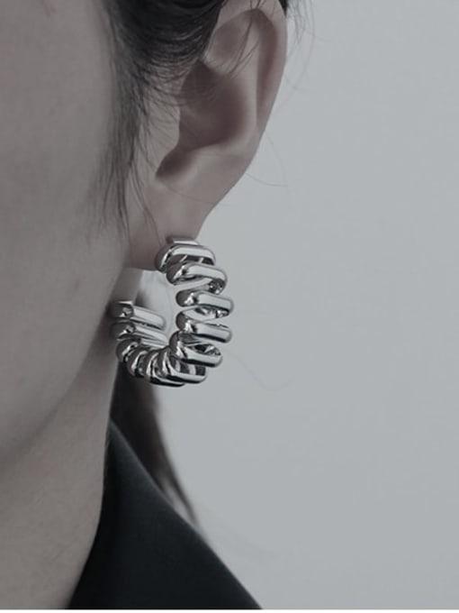 TINGS Brass Geometric Vintage Stud Earring 1
