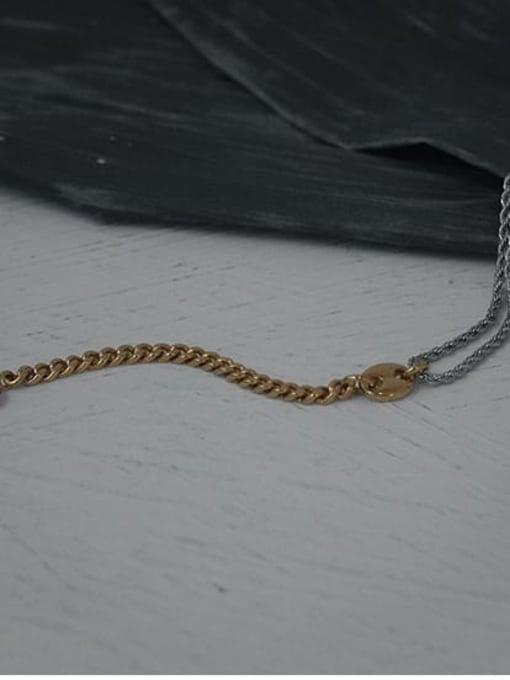 TINGS Brass Geometric Hip Hop Hollow Chain Link Bracelet 3