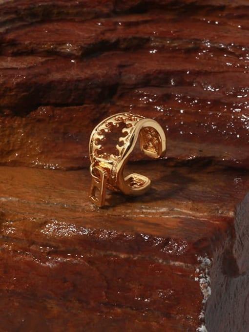 TINGS Brass Hollow Irregular Vintage Single Earring 0