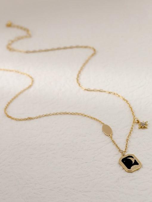 HYACINTH Brass Enamel Geometric Vintage Pendant Trend Korean Fashion Necklace 2