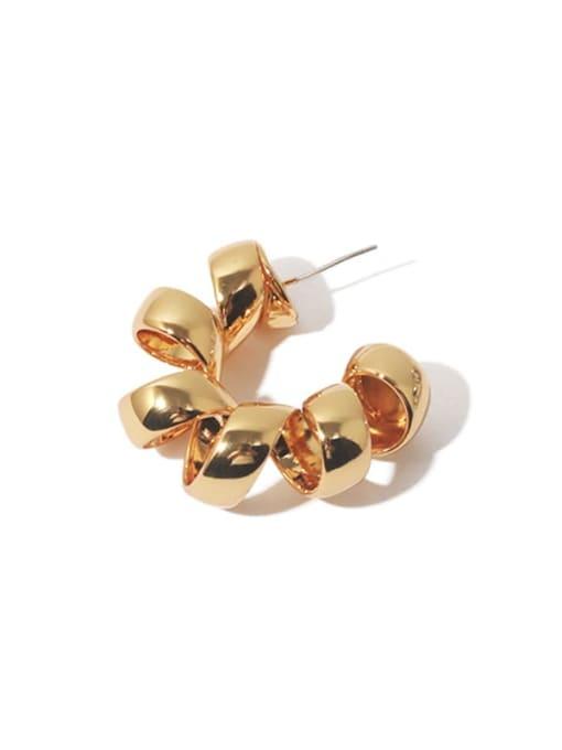 Gold (Single) Brass Geometric Vintage Single Earring