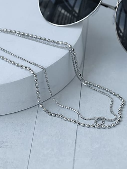 TINGS Brass Irregular Hip Hop Multi Strand Necklace