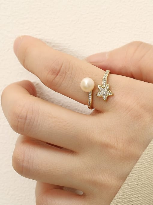 HYACINTH Brass Cubic Zirconia Butterfly Vintage Band Fashion Ring 1